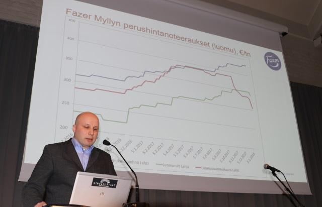 Kokonaisuudessaan maailman viljamarkkinoilla ei ole tällä hetkellä odotettavissa dramaattisia muutoksia, Tero Hirvi kertoi. Myllyvehnän hinta on noussut Suomessa Matif-vehnää korkeammaksi huonon myllyvehnäsadon vuoksi. Luomun perushintanoteerauksissa kovin nousija on viime kuukaudet ollut luomukevätvehnä.