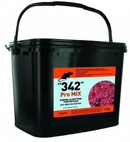 342 Pro Mix soveltuu hyvän maittavuuden vuoksi paikkoihin, joissa jyrsijöille on tarjolla paljon luontaista ravintoa.