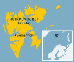 Svalbard Global Seed Vault-siemenholvi sijaitsee Norjan Huippuvuorilla. Kuva: Harri Vähäkangas / Yle