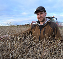 Kahden vuoden viljelykokemusten jälkeen Verner Nuuros on hyvin tyytyväinen Brander lajikkeen satotasoon ja viljelyvarmuuteen.