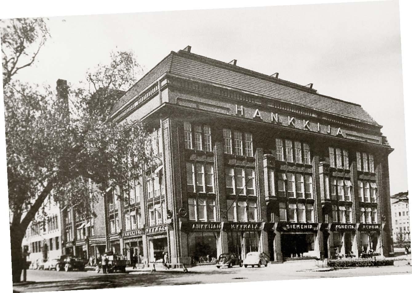 Hankkijan pääkonttori siirtyi Helsinkiin Salomonkadulle vuonna 1919.